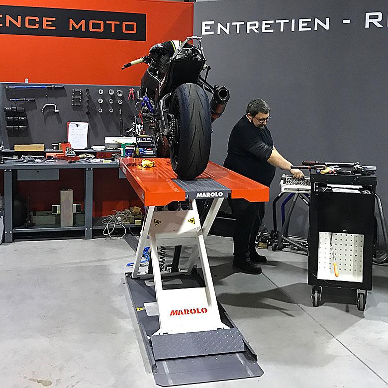 Delerue l'expérience moto l'atelier
